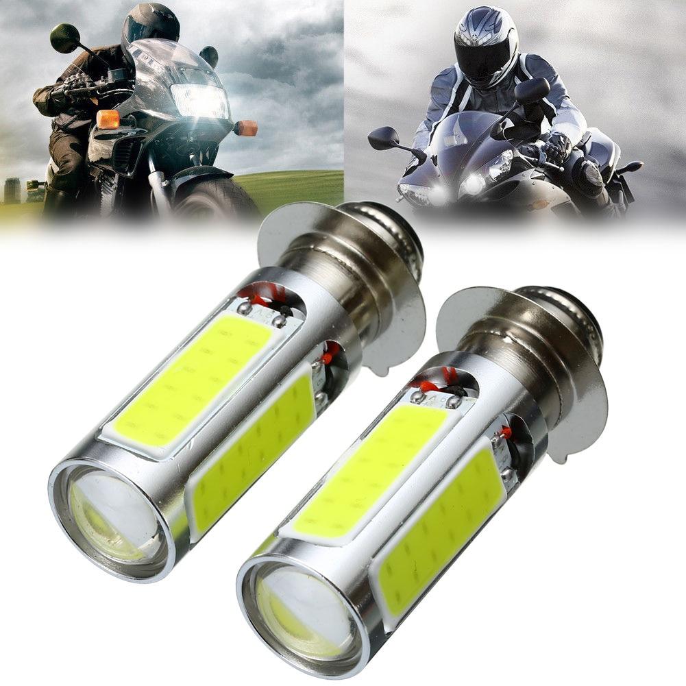 1 Pair 6000K 12V 20W White H6M COB LED Motorcycle Motor Bike ATV Headlight Fog Light Bulb PX15d P15D25-1