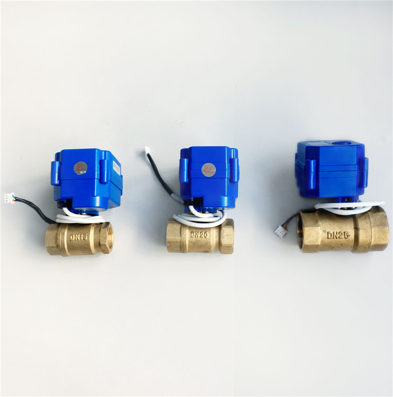 1/2DN15 3/4DN20 1DN25 DC12V BSP NPT Brass Motorized Ball Valve 3 Wires Control for WLD-805 WLD-806 Water Leak Detection Alarm popular water leak detection alarm device wld 806 with dn20 motorized ball valve and 6meter sensor cable free shipping