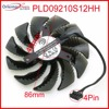 Free Shipping PLD09210S12HH DC12V 0 40A 86mm 40 40 40mm VGA Fan Graphics Card Cooling Fan