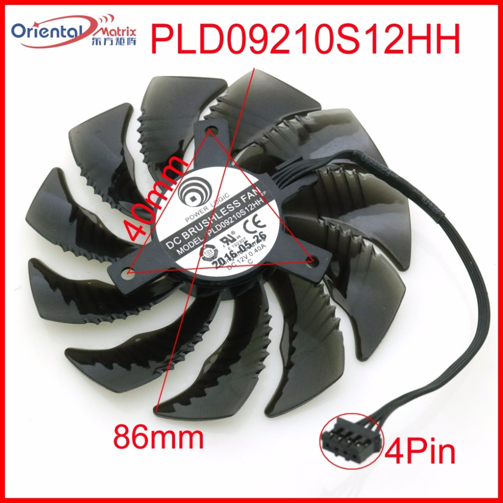 Free Shipping PLD09210S12HH DC12V 0.40A 86mm 40*40*40mm VGA Fan Graphics Card Cooling Fan free shipping t128015su msi r4770 hd4770 4pin pwn graphics card fan