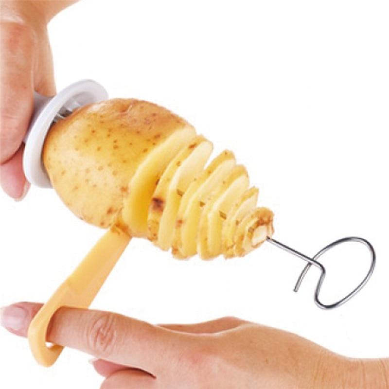 4Pcs Kitchen Accessories Tools Stainless Steel Tower Making Twist Shredder Tornado Potato Spiral Cutter Potato Slicer Chips
