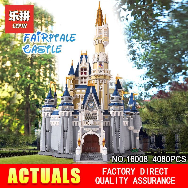 LEPIN 16008 Creator Series Cinderella Princess Castle City Compatible 71040 Model Set Building Block Children Architecture Toys