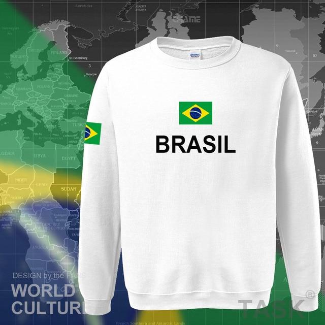 Brazil hoodie men sweatshirt sweat new streetwear 2017 tops jerseys clothing tracksuit nation Brazilian flag Brasil fleece BR 3