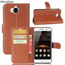 MicroData Luxury PU Leather Flip Case For Huawei Y5 2017 MYA-L22 MYA-L23 MYA-L03 MYA-U29 Wallet Stand Leather Case On Y5 2017