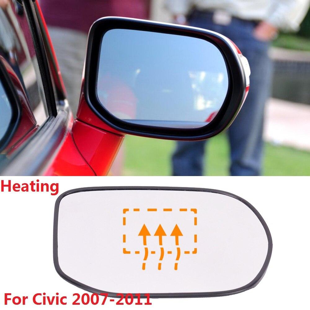 Cristal espejo de ala izquierda del lado del pasajero para HONDA CIVIC 1996-2000 climatizada