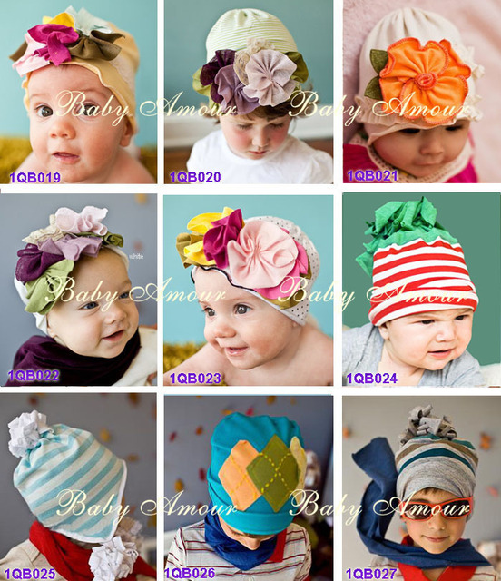 Free shipping new TOP BABY hat flower!Baby cotton Cap Beanies topbaby/Girls/boys hat aby girl hair Headband Fashion head band