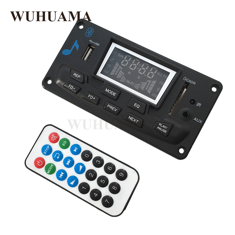 US $13 59 15% OFF|DIY Bluetooth Car Boombox mp3 Player Alar Wireless FM  FLAC APE Music Equalizer Audio AUX USB MMC Spectrum Analyzer APP Control-in