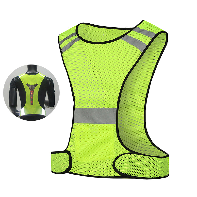 цена High Visibility Safety Vest With Reflector Strips safety reflective running vest led vest free shipping
