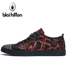 Blaibilton Breathable Skateboarding Shoes For Men Light Weight Lace Up Men's Sneakers 2017 New Black Color Summer Men's Sneakers