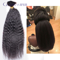 Stock! crochet trenzado bulto del pelo humano brasileño recto rizado bulto del pelo humano de la virgen del pelo brasileño de la virgen del pelo de color negro