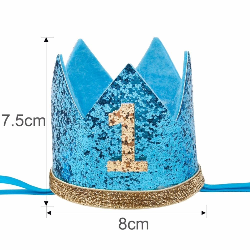 FENGRISE My First Birthday Party Hats Princess Crown Boy Girl I AM ONE Happy 1st Decorations Kids Anniversary In DIY From