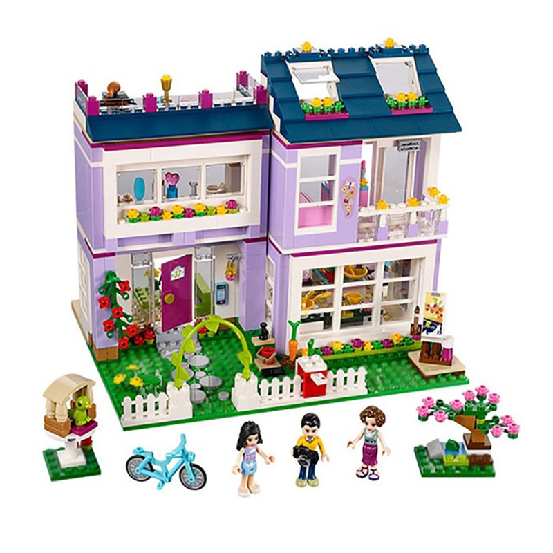 Girls Emma's House 731Pcs Mini Bricks Set Sale Building Blocks Friends Series Toys For Children Gifts Compatible  41095 2017 hot sale girls city dream house building brick blocks sets gift toys for children compatible with lepine friends