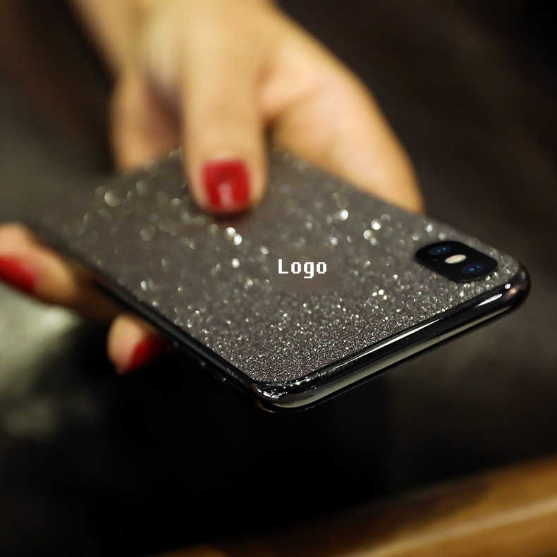Luksusowa folia wierzchnia z brokatem dla iphone XR XS max 8 7 6 6s plus błyszcząca folia ochronna dla iphone folia ochronna