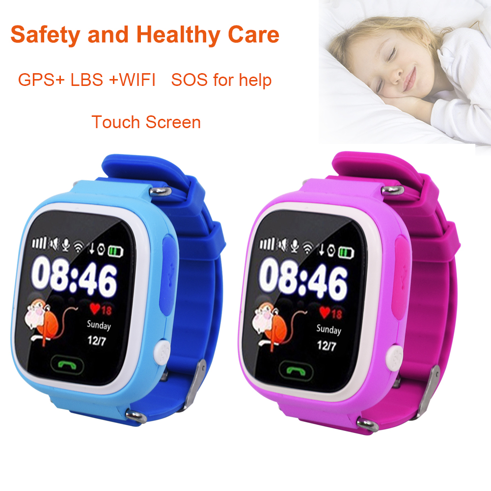 Child Smart Watch Q90 GPS LBS Positioning Children Smart Watch 1.22 Inch Touch Screen SOS Clock Tracker for Kid Safe Monitor#C1