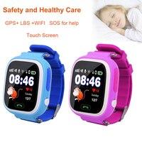 Kind Slimme Horloge Q90 GPS LBS Positionering Kinderen Slimme Horloge 1.22 Inch Touch Screen SOS Klok Tracker voor Kid Veilig monitor # C1-in Smart watches van Consumentenelektronica op