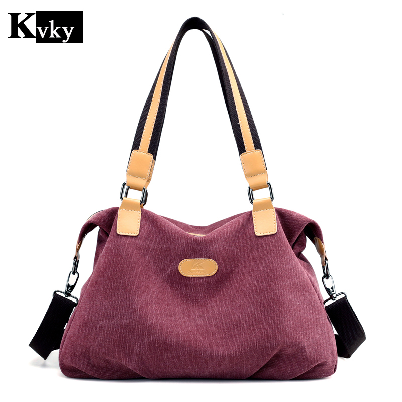 KvKy Canvas Bag Women Designer Handbags High Quality Tote Bag Ladies Shoulder Hand Bag Bolsos Sac A Main Femme De Marque  tuladuo women designer handbags high quality alligator sac a main vintage famous brand shoulder bag new bolsos feminina sac tote