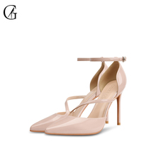 Купить с кэшбэком GOXEOU Brand Women Shoes Sandal New Design Summer Spring Autumn Heels High heel Thin Heel Star Product Plus size free shipping