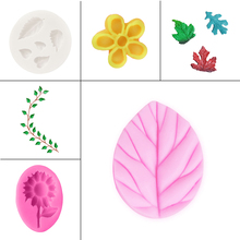 Silicon flower baking mould