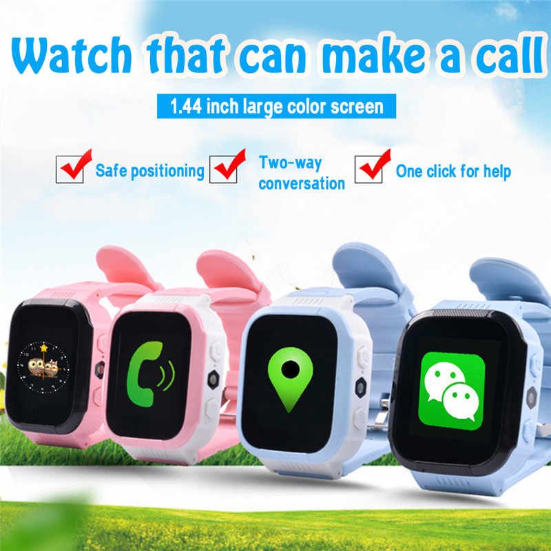 NEW Kids Smart Watch Security Anti-lost LBS SOS SIM Call Baby Watch Wristwatch GPS Waterproof Children Watch Gift Bracelet Watch