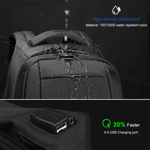 Image 3 - Tigernu Splashproof Anti Theft Mens Backpacks 15.6inch Laptop Notebook USB Backpack for Teenage Women Male Mochila
