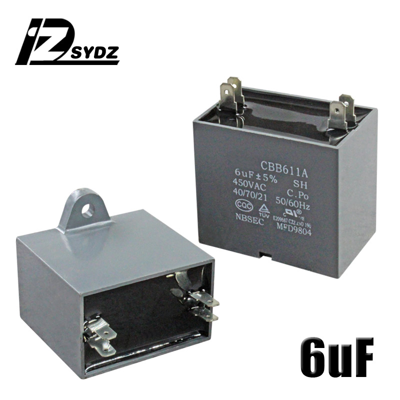 CBB61 кондиционер наружный вентилятор стартовый конденсатор с алюминиевой крышкой, 1,5/2/2,5/3/3,5/4/5/6/8 мкФ 450 вольтным и конденсатор с алюминиевой крышкой 4 вставки электромагнитный пускатель