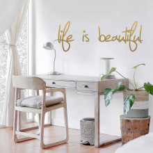 Fashion English Proverb Wall Stickers Modern Sticker vinyl Decor Decals Bedroom Mural naklejki