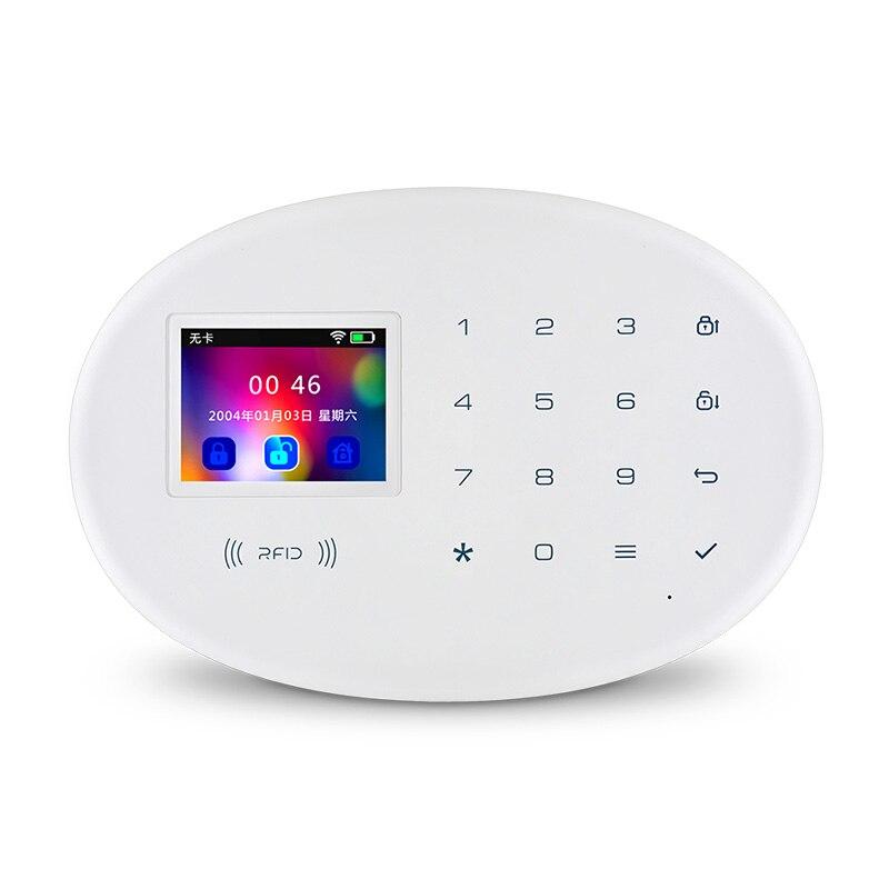 KERUI W20 Беспроводной умный дом WI-FI GSM охранной сигнализации Системы с 2,4 дюйма TFT сенсорный Панель RFID CardBurglar сигнализации