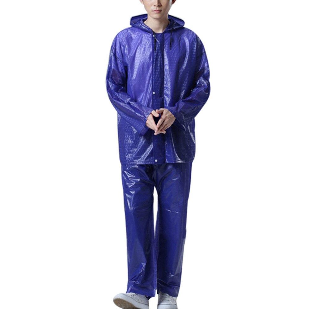 Raincoat Men Rain Jacket Pants Bicycle Biking Outside Motorcycle Raincoat Waterproof Suit for Fishing Rain Coats +Pants