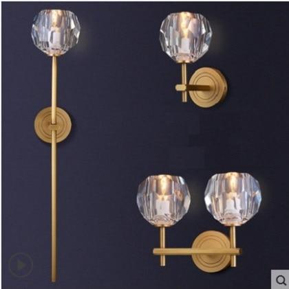 Modern Indoor Crystal Lampshade Wall Sconce Brass Wall Lamp Fixture Minimalist Bedroom Corridor Living Room Indoor Decoration Wall Sconce Wall Lamp Fixturelampshade Wall Aliexpress