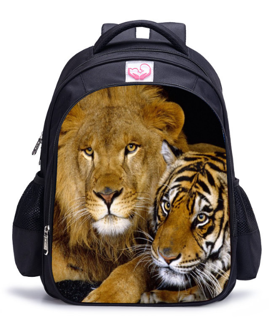 Animal Lion Tiger Kids Backpack Travel Backpacks Boys Tiger Printing Backpack Child Bagpack Children School Bags For Teenagers