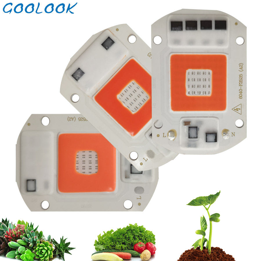 LED Grow COB Chip Phyto Lamp Full Spectrum AC220V 20W 50W 100W For Indoor Plant Seedling Grow And Flower Growth Fitolamp