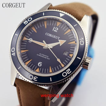 41mm Corgeut watches Stainless Steel Sapphire Crystal Automatic Movement Men's