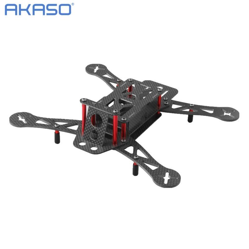 AKASO Glass Carbon admix Fiber FPV Quadcopter Frame For Diy QAV 250 Kit MotorCarbon Propeller mini qav250 quadcopter frame carbon fiber 12a qav250 quadcopter frame