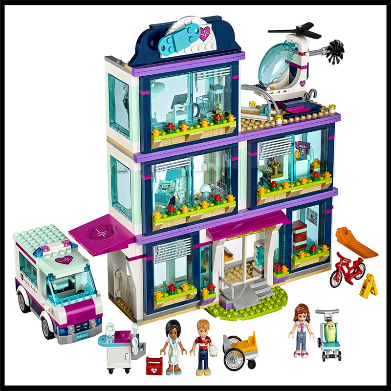 LEPIN 01039 932Pcs City Park Love Hospital Model Building Block Compatible Legoe Construction Figure Toys Gift For Children lepin 24021 city creator 3 in 1 island adventures building block 379pcs diy educational toys for children compatible legoe