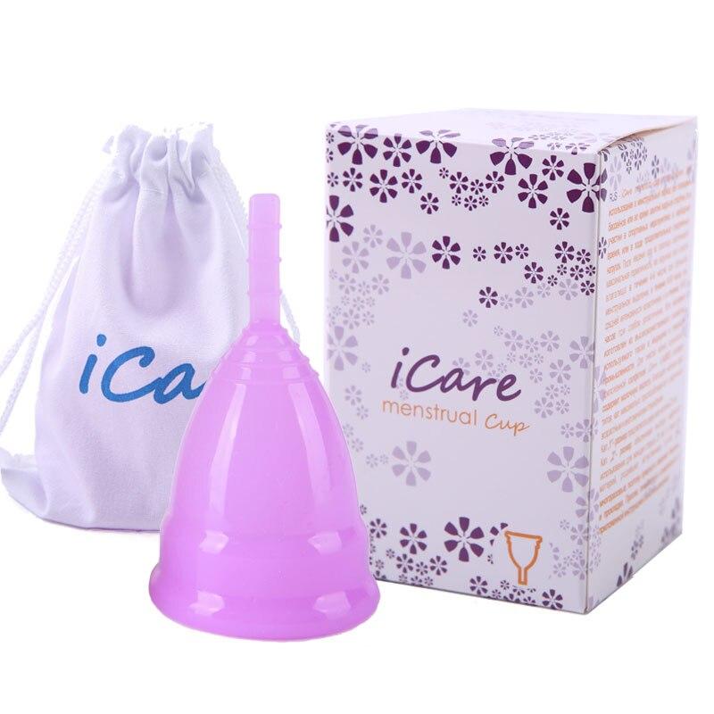 Al por mayor reutilizable de silicona de grado médico de la copa Menstrual producto de higiene femenina dama la menstruación Copo