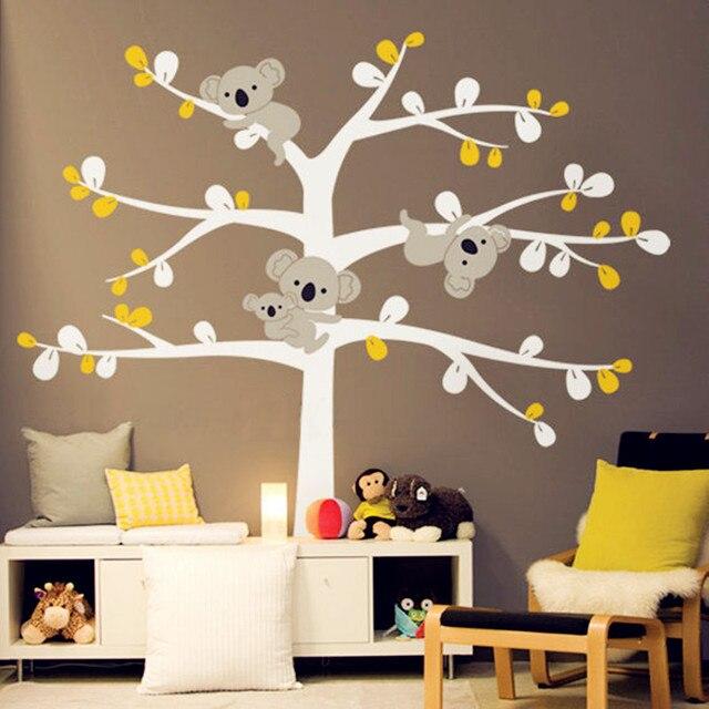 Riesige Koala Baum Wandtattoo Vinyl Aufkleber Decor Koala