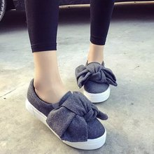 new famous brand women flat shoes big bow flats fashion woolen pattern creepers bow platform shoes woman loafers espadrilles