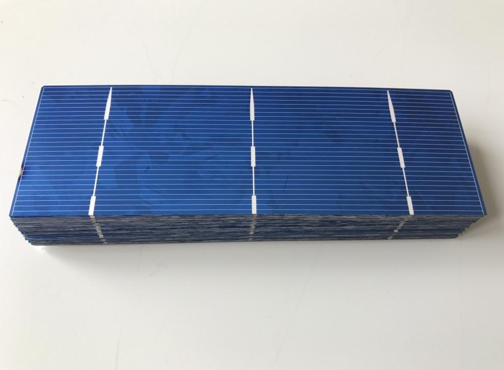Polycrystalline solar cells 1.4W A Grade 152mm*52mm The toppest quatliy solar cell panel 40pcs/lot Freeshipping