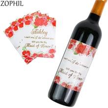 10pcs Champagne Wine Bottle Stickers Wedding Decoration Rustic Vintage Table Centerpieces Engagement Party Boda
