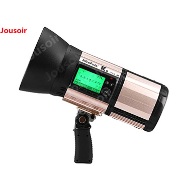 New NiceFoto K6 600Ws GN103 TTL HSS 1/8000S 2.4G Wireless Battery Powered Flash With TX-C02 for Camera CD50