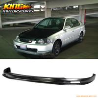 96-98 Honda Civic 2 3 4Dr 머그컵 스타일 프론트 범퍼 립 도색되지 않은 블랙 PP