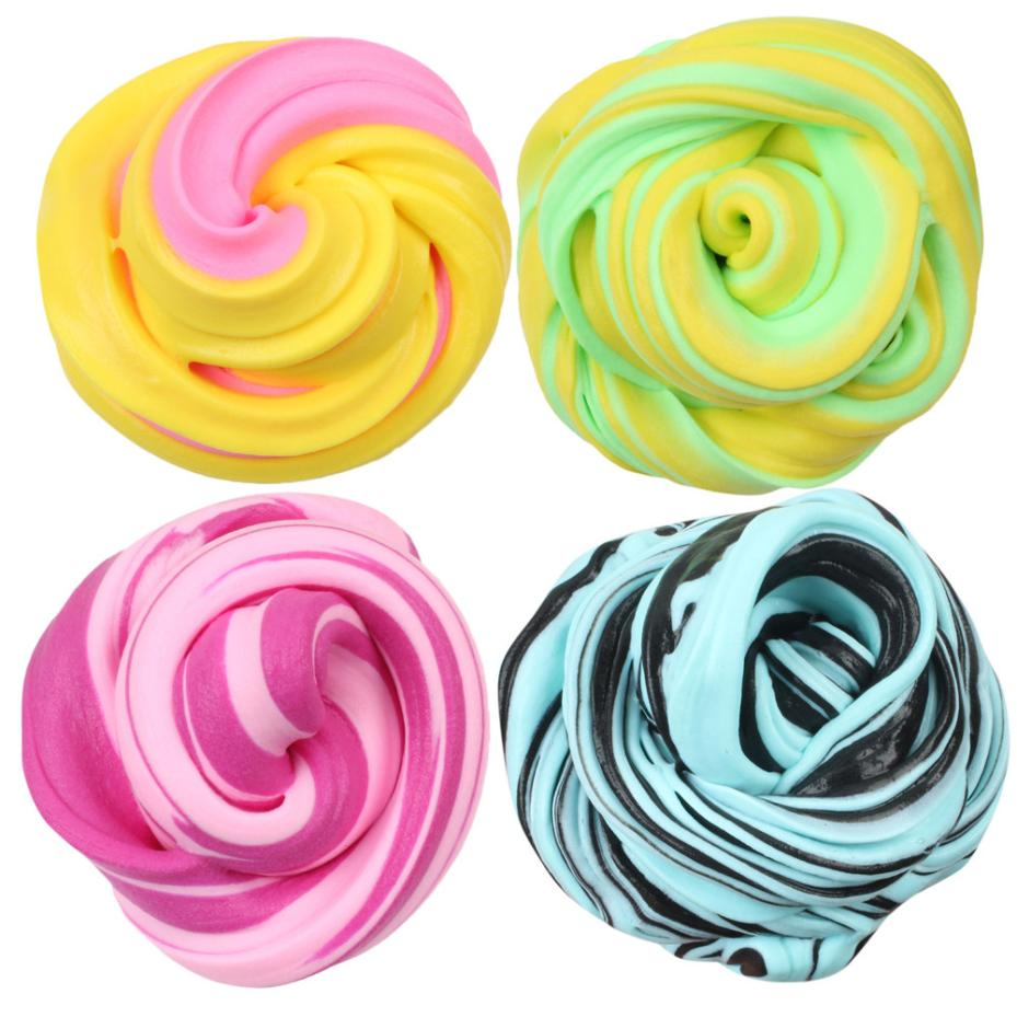 New Soft Fun Beautiful Color Cloud Slime Squishy Putty Scented Stress Kids Clay Toy For Arts Crafts School