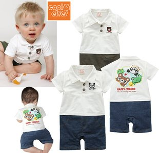 abf099ade9e7 2012 summer new cute baby boy short sleeve rompers 100%cotton baby ...