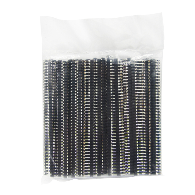 40P female header 100pcs 1x40 Pin 2.54 Round Female Pin Header connector 100pcs/lot for Crystals and PCB in stock