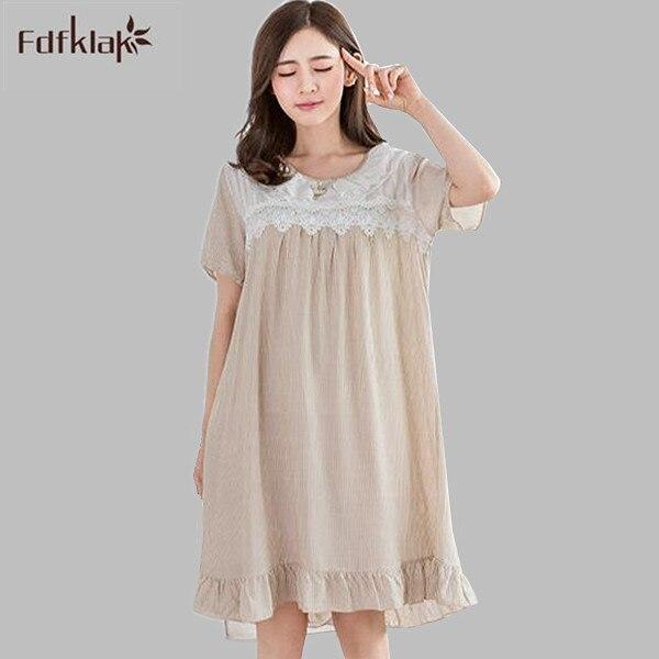 239ecc5cbf 2017 Brand New Sleep Lounge Nightshirts Women Sleepwear Cotton Nightgowns  Indoor Clothing Home Dress Female Nightdress A719