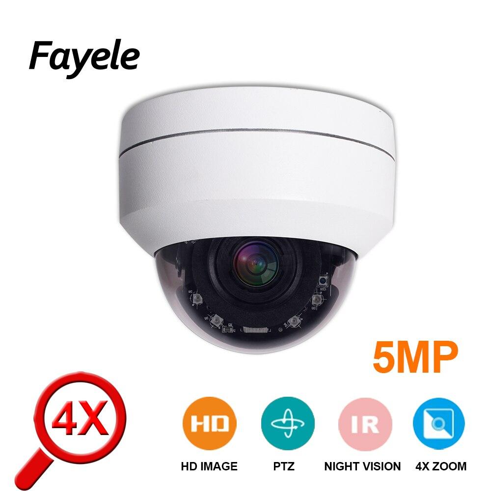 Caméra IP PTZ dôme extérieur HD 2 K 5 mégapixels H.265 POE 5MP inclinaison panoramique 4X ZOOM Mini caméra de sécurité CCTV P2P vue de téléphone Mobile IR 50 M