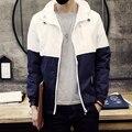2017 новое прибытие высокого качества мужская мода заклинание цвет Тонкий Осень кардиган куртки клип грамм код размера S-3XL