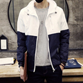 2017 new arrival high quality men's fashion spell color Slim Autumn cardigan jacket clip gram size code S-3XL