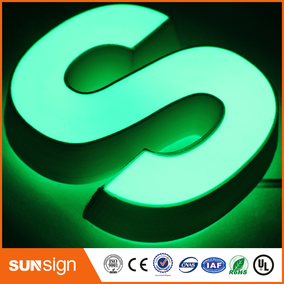 3D Lighting Acrylic Mini LED Channel Letter Sign / Bending Machine Making Acrylic Face Lighting
