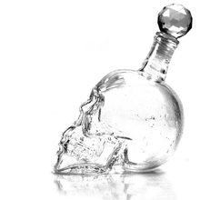 Creative Crystal Skull Head Alocohol Decanter Bottle For Home Bar Use